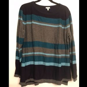 Talbots Striped Colorblocked Sweater size XL